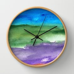 water color abstract painting_10 Wall Clock by humble art by dana&reese - $30.00 Abstract Watercolor, Clock, Wall, Painting, Decor, Watch, Decoration, Painting Art, Clocks