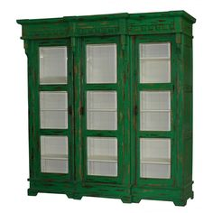 Hyde Display Cabinet. Customize items with any of our wide range of finishes, colors, and hand painted artwork. Any item can be painted in over million ways enabling items to be truly unique. The possibility are nearly endless and include stained, distressed, textured, antiqued, weathered and metallic finishes. In addition, artwork is available on most items. Items can be customized with any of our hand painted designs.#StevenShell