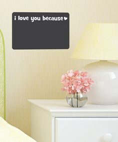 Take a look at this Chalkboard Whimsical 'I Love You Because' Wall Decal by Wallquotes.com by Belvedere Designs on #zulily today!