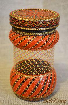 (27) Одноклассники Glass Painting Designs, Pottery Painting Designs, Dot Art Painting, Painted Wine Bottles, Painted Jars, Painted Wine Glasses, Glass Bottle Crafts, Bottle Art, African Pottery