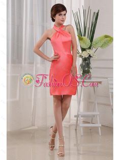 Column Mini-length Taffeta Halter Prom Dress Coral Red- $107.29  http://www.fashionos.com  prom dress websites   sleeveless prom dress   mini length prom dress   column prom dress   zipper up prom dress   plus size homecoming prom dress 2013   custom made homecoming prom dress   under 150 prom dress   prom dresses morii lee   taffeta prom dress    Dramatic dress has the wow factor. . You are sure to be the fabulous and charming.