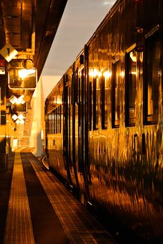The lights of Paris are sparkling as the Orient Express pulls into the station for its final stop. By Train, Train Tracks, Simplon Orient Express, Ticket To Ride, Night Train, Model Trains, Historical Sites, Luxury Travel, Beautiful World