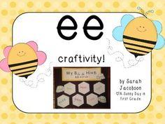Bee Hive Craftivity {long e: ee word practice!}