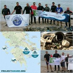 Shout out to Loutraki Divers, #Greece #CleanUpEurope #DiveAgainstDebris Map #ProjectAWARE