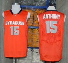 dc7fa95e7b33 Orange  15 Carmelo Anthony Orange Basketball Stitched NCAA Jersey Syracuse  Orangemen