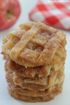Caramel Apple Pie Cookies -Easy fall cookie. Pastry crust, warm gooey caramel…