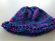 beanie hat incorporating two different patterns $7.00 + postage