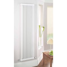 The Acova steel column radiator comes in a traditional style, that is a classic equally at home in modern environments or traditional houses. Supplied with wall mounted brackets, blanking plugs, and bleed valves. Upright Radiators, Home Radiators, Vertical Radiators, Column Radiators, My Living Room, Living Spaces, Designer Radiator, Kitchen Colour Schemes, Big Bathrooms