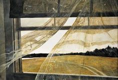 Andrew Wyeth, American, 1917 - 2009 Wind from the tempera on hardboard overall: 47 x 70 cm x 27 in.) framed: x x 7 cm x 35 x 2 in.) Gift of Charles H. Morgan On View at the National Art Gallery, Washington. (C) Andrew Wyeth Andrew Wyeth Paintings, Andrew Wyeth Art, Jamie Wyeth, Andrew Wyeth Prints, National Gallery Of Art, Art Gallery, National Art, Grant Wood, Ouvrages D'art
