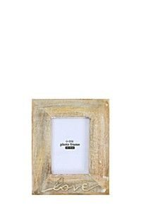 MANGO WOOD SCRIPT PHOTO FRAME, 10X15CM