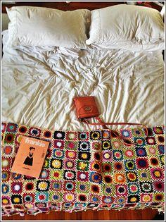 bedroom - granny square afghan
