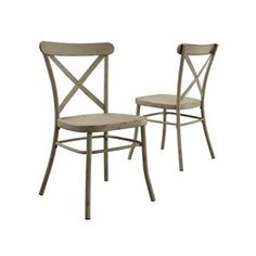 Shop for Modern Farmhouse Style. Buy products such as Better Homes and Gardens Collin Distressed White Dining Chair, Set of 2 at Walmart and save. White Metal Chairs, White Dining Chairs, Accent Chairs, Farmhouse Style Kitchen, Modern Farmhouse Style, Farmhouse Office, White Farmhouse, Farmhouse Decor, Table And Chair Sets