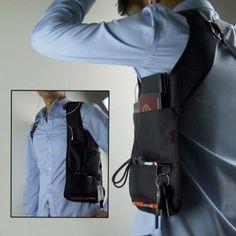 Travel Anti-Theft Hidden Underarm Shoulder Storage Bag Phone Holster Black Nylon Inspector Sports Organizer Bag For Travel Phone Holster, Cheap Crossbody Bags, Moda Online, Black Nylons, Bag Storage, Shoulder Bag, Stuff To Buy, Clothes, Belt Bags