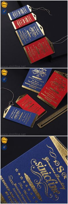 Foil stamping hang tags, luxury hang retail hang tags. Email at info@sinicline.net for quotation. #hangtags #swingtags