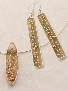 Resin Earrings and Pendant   InterweaveStore.com