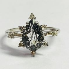 Black Rutile and Diamonds 💎😍 are always attractive piece of jewellery