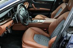"""Maserati: """"Italian leathers, fine woods, handcrafted stitching: it's the New Quattroporte GranLusso with Zegna silk interiors. https://t.co/sOddvn1yYD"""""""