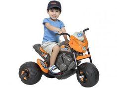 Moto Elétrica Infantil Moto Cross Grafite - 2 Marchas Bandeirante