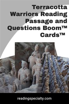 This nonfiction passage presents information about the amazing Terracotta Warriors discovered in Xi'an, China. Students check their understanding as they answer the embedded questions. The passage is informative, and interactive to engage your students. Students and teachers will enjoy the self-correcting, instant feedback provided by Boom™ cards. Passage Writing, Reading Passages, Interactive Learning, Learning Activities, Middle School History, Comprehension Questions, Reading Levels, Nonfiction, Terracotta
