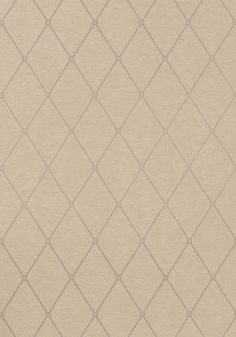Rigid metallic lines pop against the rustic, linen-like ground of Vernon #wallpaper with its definitive trellis design and architectural flair. Featured here in #metallic #gold on #brown from the Richmond collection. #Thibaut