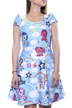 Japan La Tokidoki Unicorno Kawaii Japanese Rainbow Harajuku Lolita Doll Dress #JAPANLA #Dress