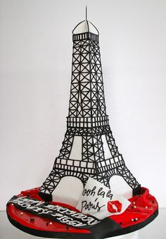 Eiffel Tower Cake-a Paris themed party for my 45th birthday wish together with a trip to Paris
