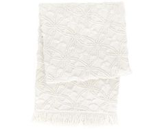 Candlewick Dove White Throw | Pine Cone Hill