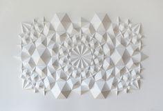 "Folded paper, art sculpture  - ""Ara 117"" by Matthew Shlian"