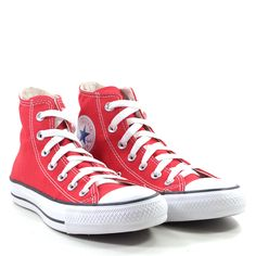 Tênis Converse All Star Core Hi Vermelho - BlackBoots Converse All Star, All Star Shoes, Converse Chuck Taylor, Emo Shoes, Cute Shoes, Riverdale Book, Tenis Star, Aesthetic Look, Unisex