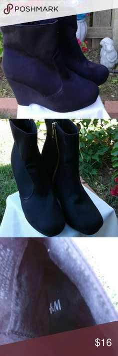 Boot Cute good  condition  suede H&M Shoes Ankle Boots & Booties