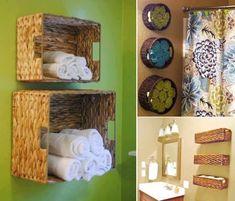 Home Design Wall Baskets For Bath Towel Storage Wall Baskets For Storage Wall Hanging Baskets For Bathroom Storage Wall Mounted Wire Baskets Storage Bath Towel Storage, Small Bathroom Storage, Diy Storage, Storage Spaces, Storage Ideas, Basket Storage, Basket Shelves, Wall Storage, Extra Storage