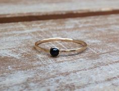 $40 Onyx Ring Gold Onyx Ring Silver Onyx Ring Black and by LieselLove