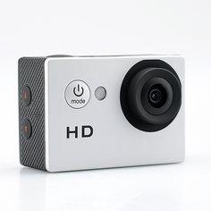 720p HD Sport Camera - 2.0 Megapixels CMOS Sensor, 140 Degree Lens Angle, 30…