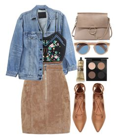 """""""Sem título #977"""" by andreiasilva07 ❤ liked on Polyvore featuring Y/Project, Balmain, Aesop, H&M, Cutler and Gross, Chloé and MAC Cosmetics"""