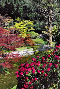 Gardens of Villa Melzi in Bellagio at Lago di Como, Lombardia, Italia