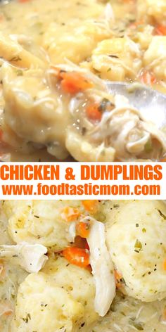 Simply delicious chicken and dumplings. This recipe is tried and true and has thousands of fans! Simply delicious chicken and dumplings. This recipe is tried and true and has thousands of fans! Casserole Recipes, Crockpot Recipes, Soup Recipes, Vegetarian Recipes, Chicken Recipes, Cooking Recipes, Recipes Using Rotisserie Chicken, Hamburger Meat Recipes, Casserole Dishes