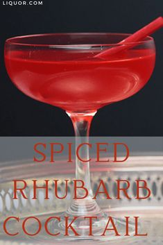 Gin and rhubarb makes this Spiced Rhubarb cocktail a match made in heaven. This sweet yet tart drink is a crowd-pleaser and will help break the ice at any party. New Years Cocktails, Festive Cocktails, Spring Cocktails, Baby Shower Cocktails, Rhubarb Cocktail, Gin Drink Recipes, Valentine's Day Drinks, Match Making, Gin And Tonic