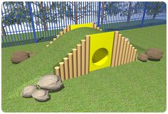Nursery School Playground Play Mound | Kids Outdoor Tunnel Ramp Mound | Suppliers UK
