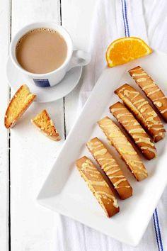 Cardamom Biscotti with Orange Icing