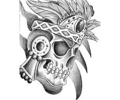 Aztec Tattoo Design Art Idea