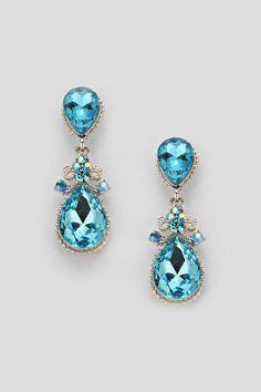 Crystal Delphine Earrings in Water Blue