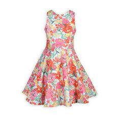 34765b39ba Delightful Gardens Tween Girl s Spring Floral Swing Dress Made in USA -  Wooden Soldier
