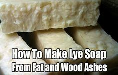 How To Make Lye Soap From Fat and Wood Ashes: Low-Cost Survival Hygiene. Lye soap is actually a really old way of making soap. Easy and cheap to make.How To Make Lye Soap From Fat and Wood Ashes: Low-Cost Survival Hygieneamy lynch Ashes How Survival Food, Survival Prepping, Emergency Preparedness, Survival Skills, Bushcraft Skills, Survival Hacks, Survival Shelter, Camping Survival, Soap Making Recipes