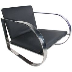 This sleek and stylish modern lounge chair features a unique chrome frame with an extra wide seat. Mid-Century Modern design with comfortable upholstery makes this a wonderful addition to any setting. Please confirm item location (NY or NJ). Adirondack Chair Plans Free, Wooden Adirondack Chairs, Scandinavian Chairs, Round Chair, Diy Chair, Vintage Chairs, Mid Century Modern Design, Vintage Frames, Cool Furniture