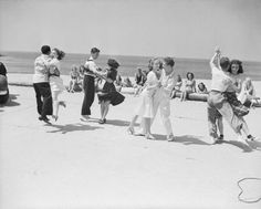 Vintage Beach Dance Photo