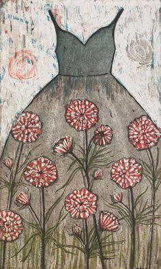 'Piparminttupuku Peppermint Dress' by Kirsi Neuvonen Fashion Prints, Fashion Art, Botanical Fashion, Altered Book Art, Dress Images, Gravure, Art Images, Peppermint, Designer