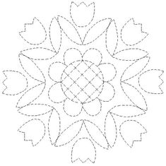Imagen Hand Quilting Patterns, Quilting Templates, Applique Templates, Applique Patterns, Free Motion Quilting, Quilting Designs, Border Embroidery Designs, Embroidery Motifs, Cross Stitch Embroidery