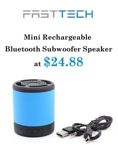 FastTech is offering Mini Rechhargeable Bluetooth Subwoofer Speaker at just $24.88. this deal is currently activate on the site. For more FastTech Coupon Codes visit:  http://www.couponcutcode.com/stores/fasttech_coupon_codes/