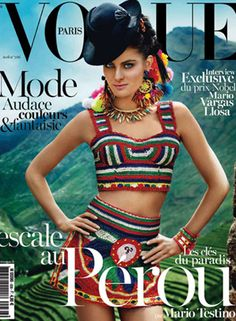 Vogue Paris April cover issue 2013 Dolce shot by Mario Testino