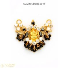 Gold Pendants - View and shop our collection of gold pendants made in India - Indian Gold Jewelry - Buy Online Gold Bangles, Gold Earrings, Gold Jewelry, Beaded Jewelry, Beaded Necklace, Indian Gold Jewellery Design, Jewellery Designs, Jewelry Patterns, Black Gold Chain